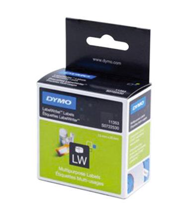 Etiquettes LabelWriter amovible, blanc, 13 x 25 mm (1000 étiquettes) – DYMO