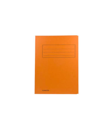 Chemise de classement A4 orange (3 rabats)
