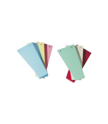 Intercalaires carton trapézoïdale, perforation 2 trous, couleurs assorties (paquet de 100) – Class'ex