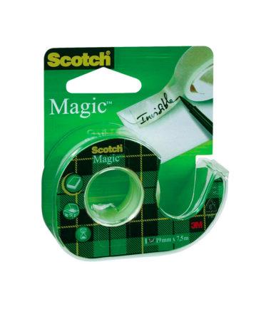 Ruban adhésif Scotch Magic Tape avec dérouleur