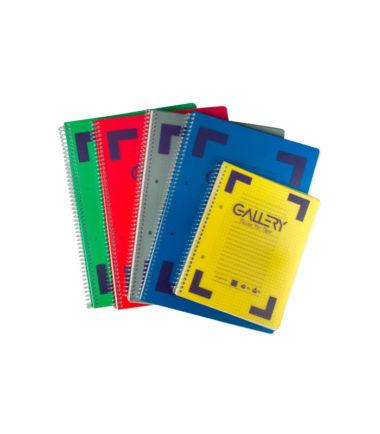 Cahier à reliure spirale A5, quadrillé 5 mm, 160 pages – GALLERY