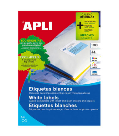 Etiquettes blanches 70 x 37 mm (2.400 pc.) – Apli
