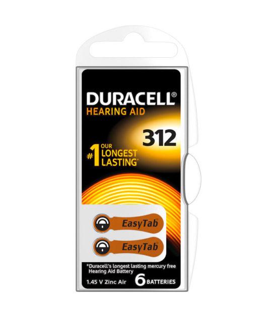 Pile auditive DA13 (6 pc.) – Duracell