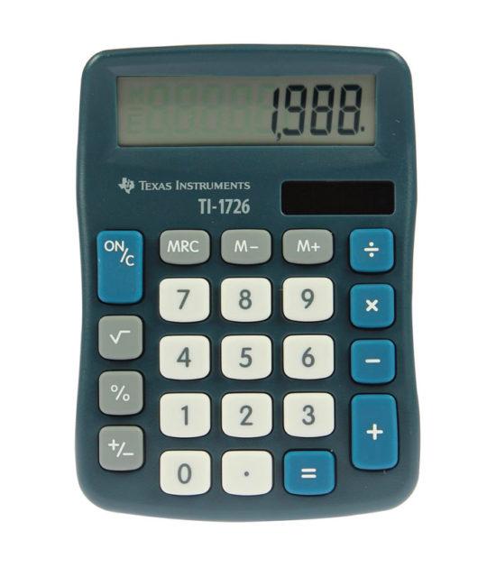 Calculatrice de bureau Texas Instruments (TI-1726)