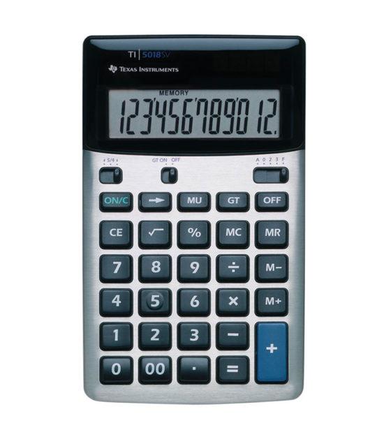 Calculatrice de bureau Texas Instruments (TI-5018SV)