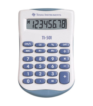 Calculatrice de poche Texas Instruments (TI-501)