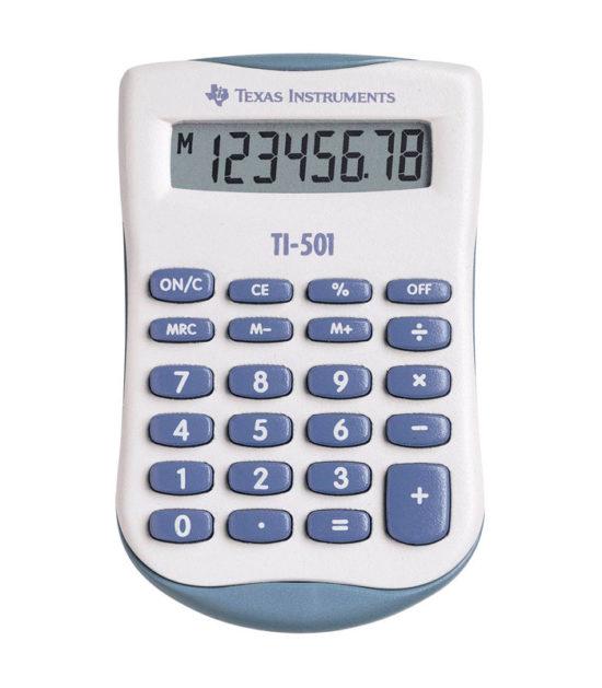Calculatrice de poche Texas Instruments (TI-501)