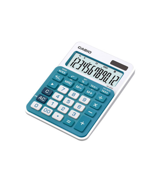 Calculatrice de bureau Casio (MS-20NC) bleu