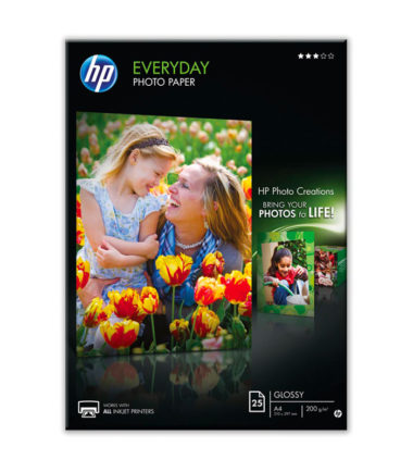 Papier photo Everyday A4, 200 g (25 feuilles) – HP