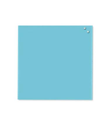 Tableau en verre magnétique turquoise (45x45) - NAGA